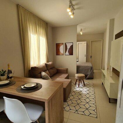 Vende-se apartamento mobiliado no Ed. Nova Déli em Passo Fundo